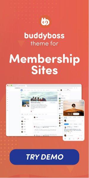 BuddyBoss Membership Sites