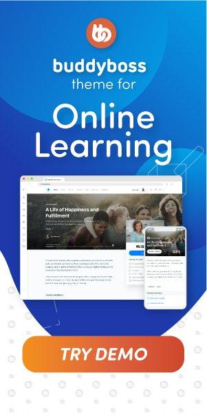 BuddyBoss Theme Online Learning