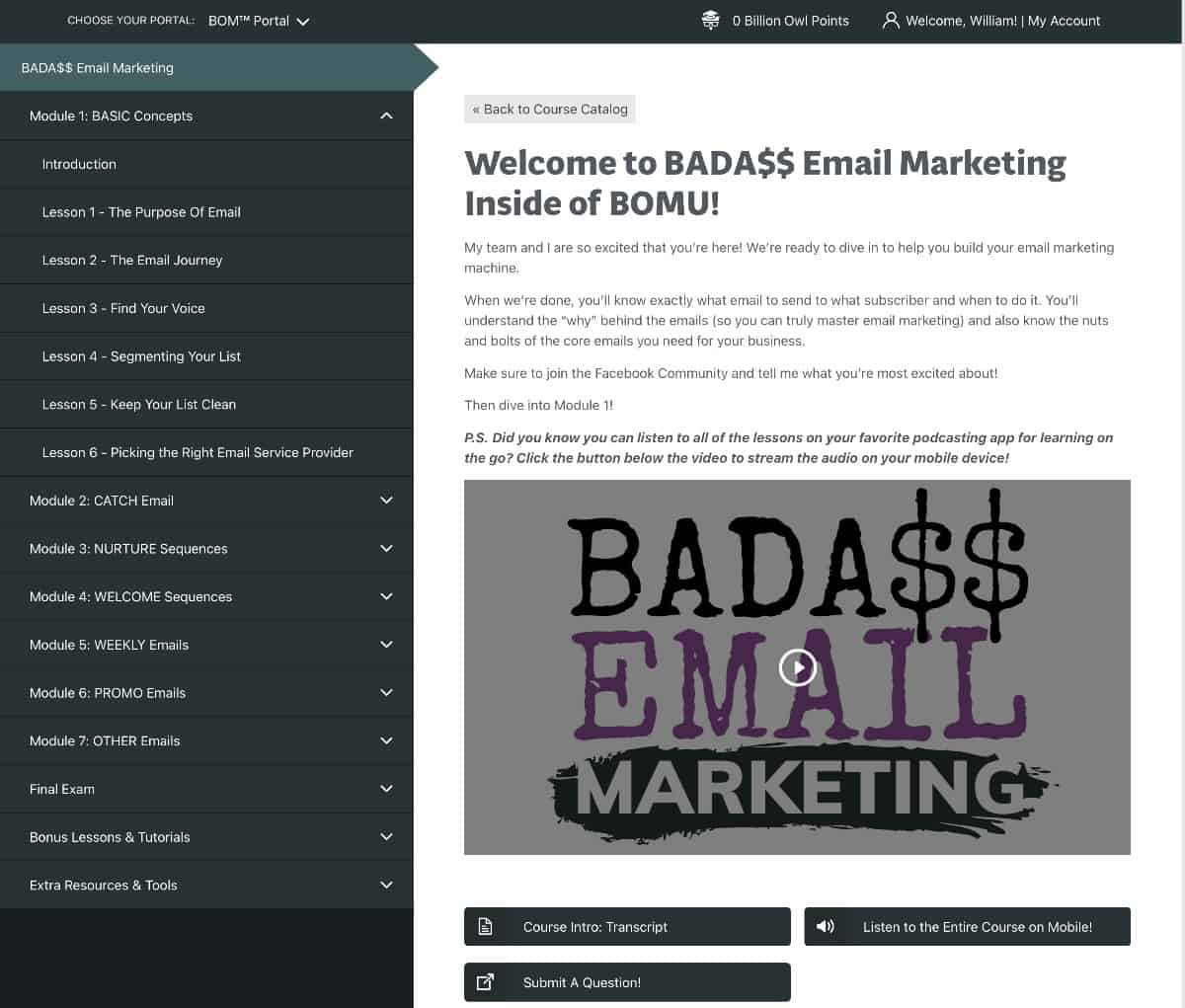 BOMU Free Training Email Course