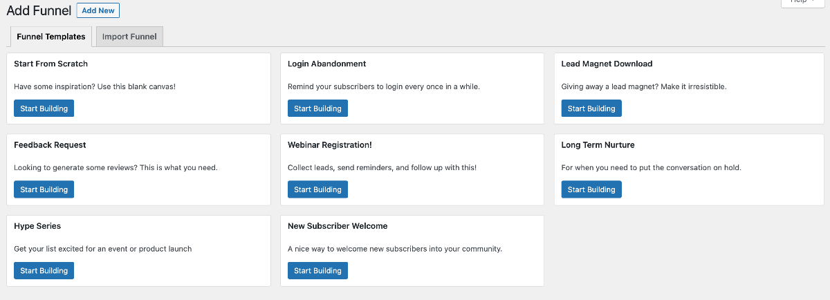 Groundhogg CRM Funnel Templates