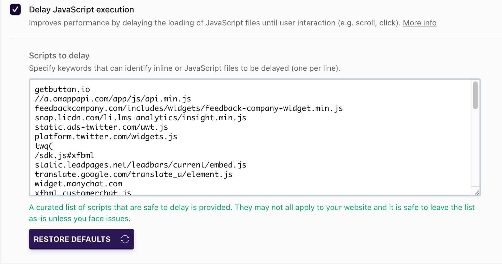 WP Rocket Delay Javascript