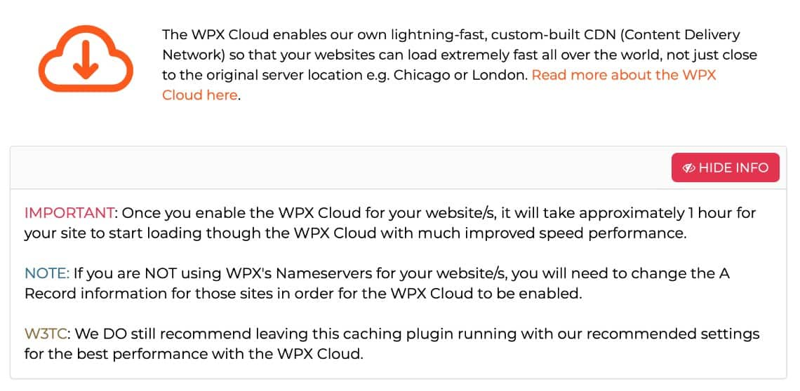WPX Hosting Review - Cache and CDN