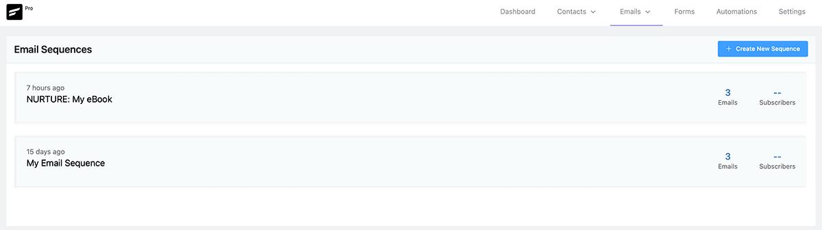 FluentCRM Email Sequences