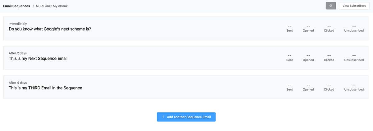 Inside of an Email Sequence