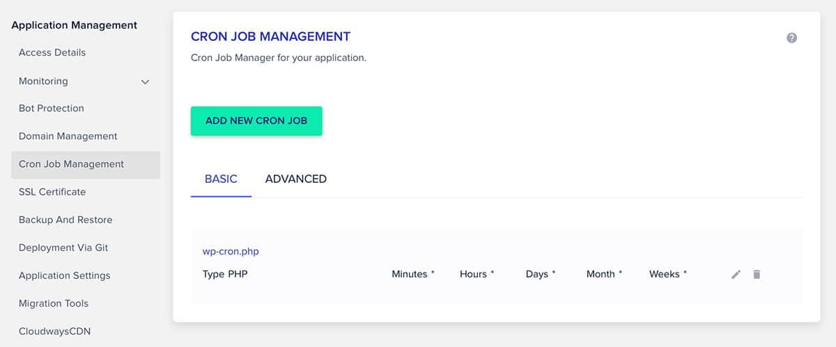 Cloudways Cron Job Management