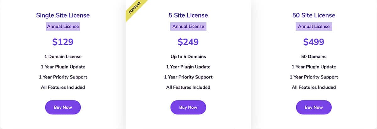 FluentCRM pricing plans