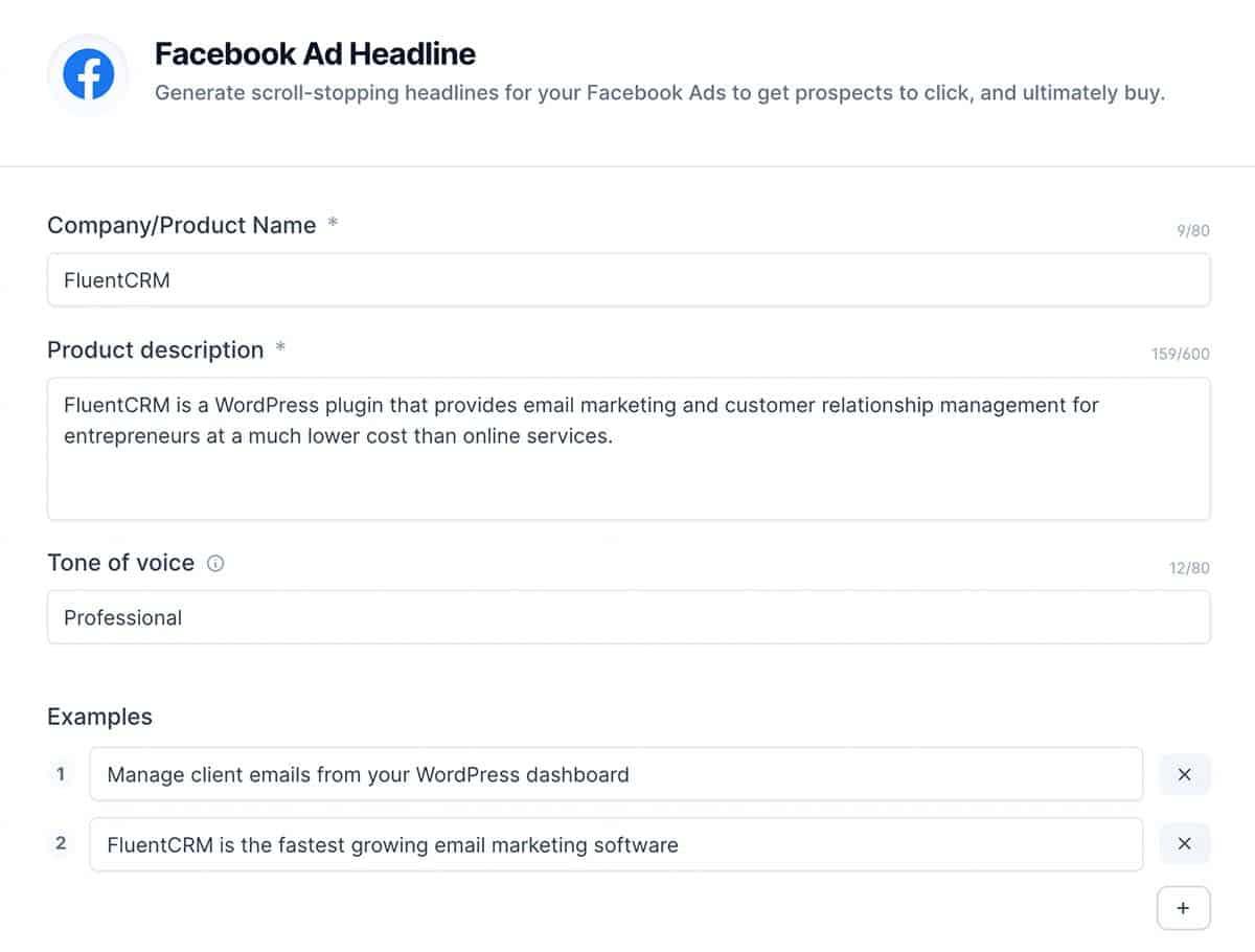 Facebook Ad Headline for Jarvis AI