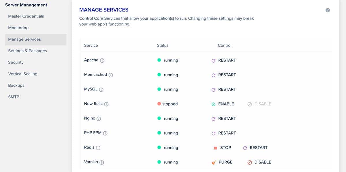 Redis - Manage Services