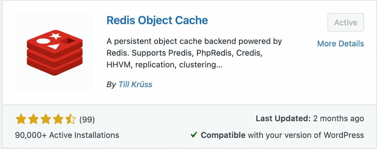 Redis Object Cache WordPress Plugin